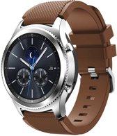 KELERINO. Siliconen bandje - Samsung Galaxy Watch (46mm)/Gear S3 - Bruin