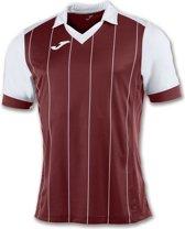 Joma Grada Shirt Korte Mouw - Bordeaux / Wit | L