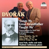 Dvorak/Suk Song Transcriptions