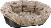 Ferplast hondenmand met kussen sofa 4 bruin - 64x48xH25 cm