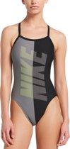 Nike Swim Racerback One Piece Dames Badpak - Black - Maat 36