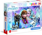 Clementoni - Superkleur puzzel - Disney Frozen - 30 Stukjes