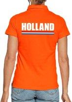 Oranje poloshirt Holland voor dames S