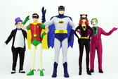 DC Comics - set figuren: batman, robin, catwoman, the penguin & the joker - 13 cm hoog - buigbaar en poseerbaar!