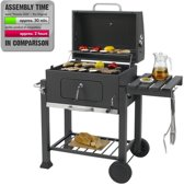 Tepro Toronto  Houtskoolbarbecue  - RVS/Zwart