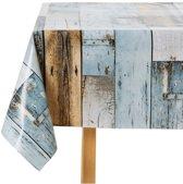 Tafelkleed woody blauw 140x250cm