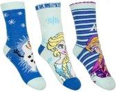 Frozen meisjes sokken 3-pak blauw 27/30