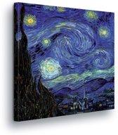 Van Gogh Starry Night Art Canvas Print 80cm x 80cm