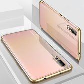 Electroplated Soft TPU Case Cover geschikt voor Huawei P20 Pro - Transparant/Goud