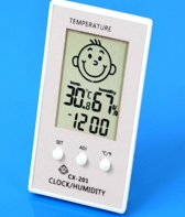 Thermometer hygrometer Baby kleur wit
