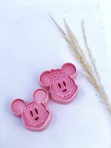 Disney Mickey Mouse & Minnie Mouse uitstekers, koekvormpjes, fondant uitstekers