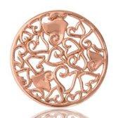 Nikki lissoni C1026RGM Baroque hearts' rose Gold M