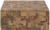 Beliani Gambo - Salontafel - Hout - bruin - 80x80x33