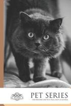 One Hundred and Fifty page lined Cat Journal: - Curious Grey Cat - Cat Journal 150-page Lined notebook with individually numbered pages and Metric/Imp