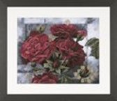 borduurpakket Lanarte Red Roses on Black