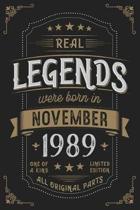 Real Legends were born in November 1989