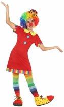 Clown Floppy kostuum / outfit voor meisjes - verkleedpak 128 (7-9 jaar)