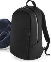 Senvi Backpack/Rugzak Trendy Duikersstof - Kleur Zwart - 20 Liter