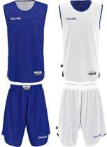 Spalding - Basketbalshirt+Broek - Kinderen - Unisex -Maat 116/128 - Blauw