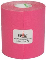 Nasara Kinesio tape - Roze | Huidvriendelijk | 7,5 cm | Extra breed