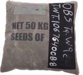 In The Mood Vintage Krijtbord Seeds - Sierkussen - 45x45 cm - Groen/Zwart