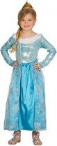 Blauwe prinsessenjurk voor meisjes 110-116 (5-6 jaar)