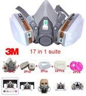 Gasmasker 3M beveiligings schilder masker 17 in 1 suit een geheel compleet systeem