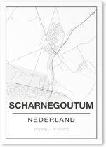 Poster/plattegrond SCHARNEGOUTUM - A4