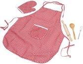 Keuken gerei speelset met schort 5 delig