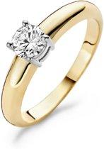 Blush Ring 1129BZI -  Geel en Wit Goud (14Krt.) met Zirconia