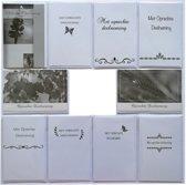Rouwkaarten en Condoleance kaarten  - Set van 10 - Met oprechte deelneming – Sterkte