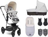 Easywalker Harvey - Kinderwagen inclusief zitting | reiswieg | voetenzak | autostoel adapter | hoogte adapter - Classic Breton