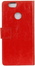 Hoesje voor Huawei P Smart, 3-in-1 bookcase, rood