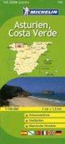 Michelin Localkarte Asturien, Costa Verde 1 : 150 000