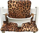 Geplastificeerd kussenset voor de Tripp Trapp kinderstoel van Stokke - Luipaard