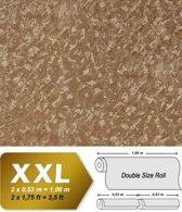 Uni kleuren behang EDEM 9011-35 vliesbehang gestempeld in spachtelputz look glimmend bruin bronzen 10,65 m2