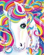 Diamond Painting Gekleurde pony 25x30cm. (Volledige bedekking - Vierkante steentjes) diamondpainting inclusief tools