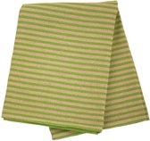 Sauna zitdoek lang - zomerstrepen, groen, 50x150 cm