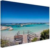 FotoCadeau.nl - Strand Australie Canvas 80x60 cm - Foto print op Canvas schilderij (Wanddecoratie)