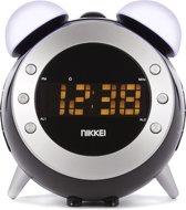 Nikkei NR280P klokradio met projectie, twee wektijden en Wake-up light functie