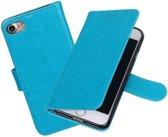 BestCases.nl Turquoise Portemonnee booktype hoesje Apple iPhone 7 / 8