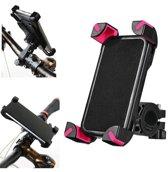 Universele smartphone houder voor op de fiets. Te gebruiken voor bijna iedere telefoon. De ideale telefoonhouder voor op de fiets. Kleur zwart. Gratis verzending!