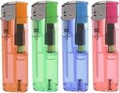 4x Gekleurde aanstekers 9 cm - Sigaretten aanstekers 4 stuks - Hervulbare/navulbare aanstekers