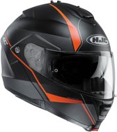 HJC Systeemhelm IS-Max II Mine Matt Black/Orange-XXL