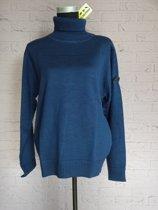HKM Pullover [ pully ]  met rolkraag, Maat M  Blauw, Nr. 960.