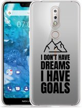 Nokia 7.1 Hoesje Goals are for Men