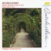 Mendelssohn: String Quartets nos 1 & 2 / Vellinger String Quartet