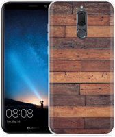 Huawei Mate 10 Lite Hoesje Houten planken