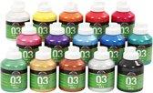 A-color acrylverf, kleuren assorti, 03 - metallic, 15x500 ml