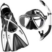 Mares X-One Marea snorkelset Wit L/XL